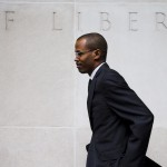 FILE - In this Aug. 14, 2014 file photo Chaka Fattah Jr., walks from the U.S. Courthouse in Philadelphia. (AP Photo/Matt Rourke, File)
