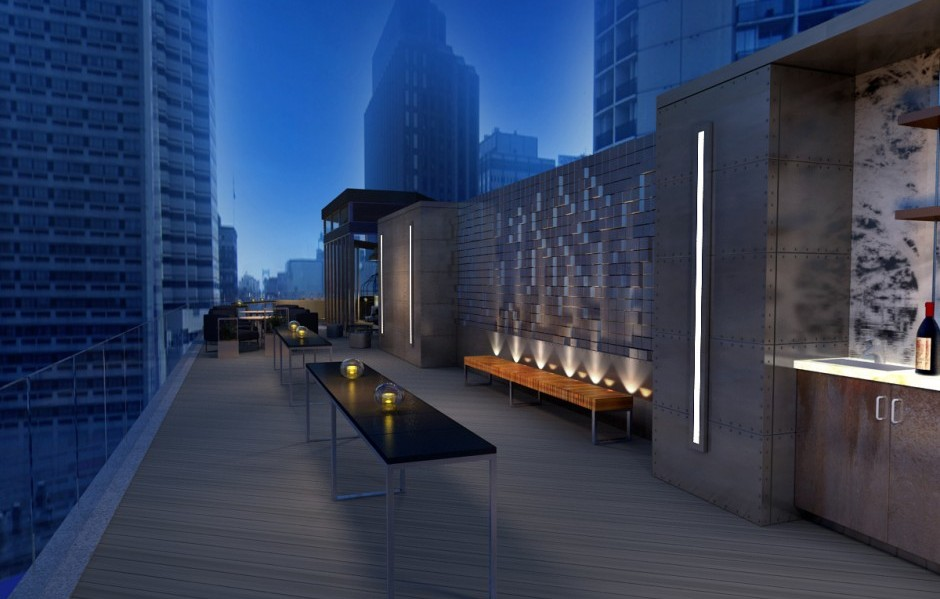 The rooftop lounge | Renderings Dawson Design Associates Inc.