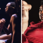 "Left: Arden Theater's production of ""Metamorphoses."" Right: Wilma Theater's production of ""Antigone."""
