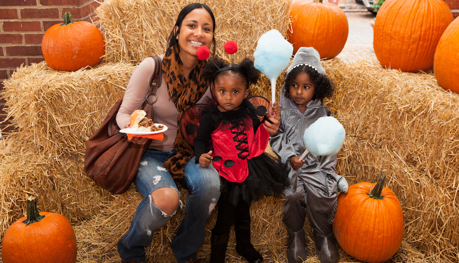 Family at TK PumpkinFest | Photo by South Street Headhouse District