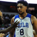 Sixers rookie Jahlil Okafor, pictured here playing in the Las Vegas Summer League, scored 12 points in his preseason debut | Stephen R. Sylvanie, USA TODAY Sports