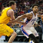 Jahlil Okafor scored 12 points to go along with 3 rebounds in his 2nd preseason game. | Bill Streicher, USA TODAY Sports