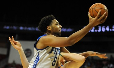 Jahlil Okafor plays against the New York Knicks in the Las Vegas Summer League. Integrating Okafor into the offense will be a priority for Brett Brown this season. | Stephen R. Sylvanie, USA TODAY Sports