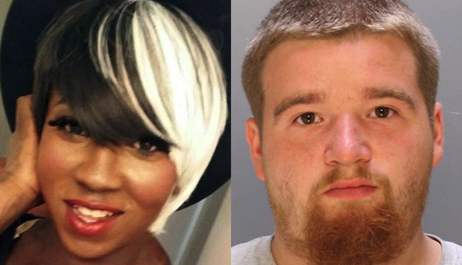 Kiesha Jenkins (left) via Facebook. Suspect Pedro Redding (right) in Philadelphia Police Department photo.