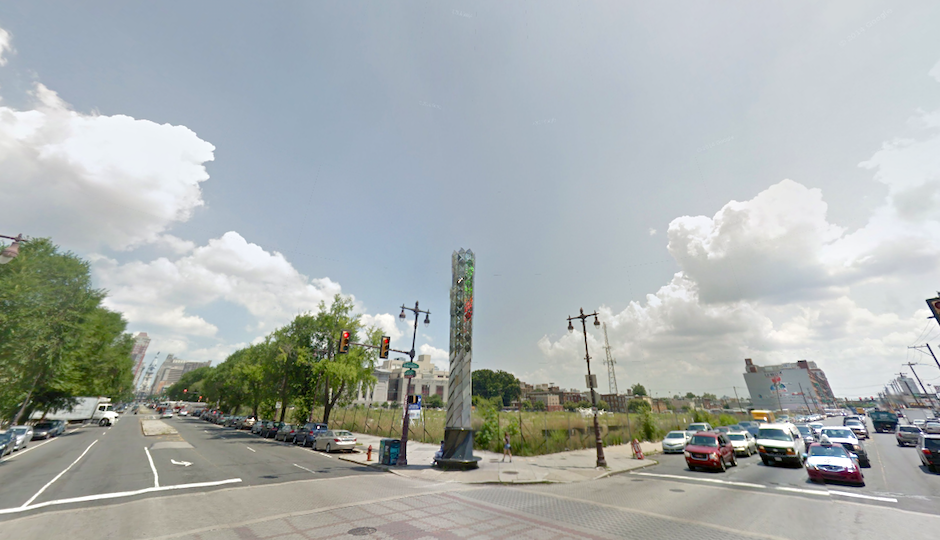 Northwest lot of Broad and Washington | Image via Google Street View