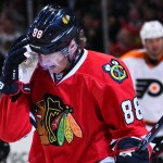Patrick Kane received angry cheers from Flyers fans on Wednesday night. | Mike Dinovo