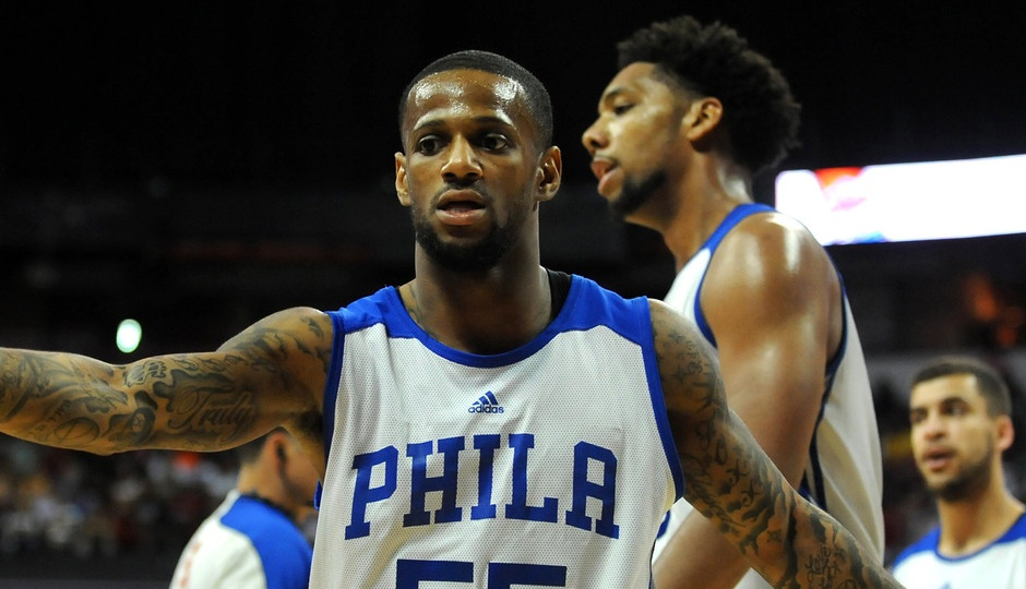 Pierre Jackson playing for the Sixers summer league team in Las Vegas. Jackson will make his Sixers preseason debut tonight | Stephen R. Sylvanie-USA TODAY Sports