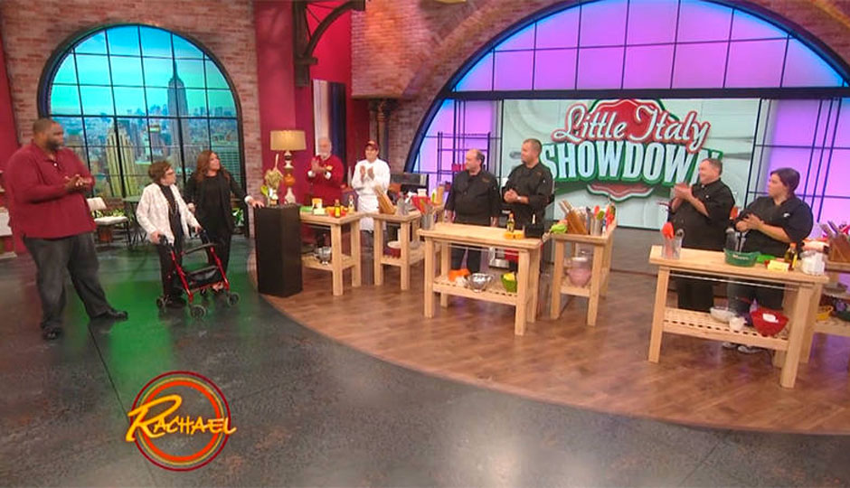 Giovanni and Maria Varallo of Ristorante Pesto on the Rachael Ray Show