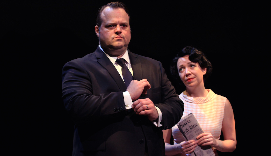 Amanda Schoonover and Scott Greer as Carmella and Frank Rizzo. | Photo by Paola Nogueras