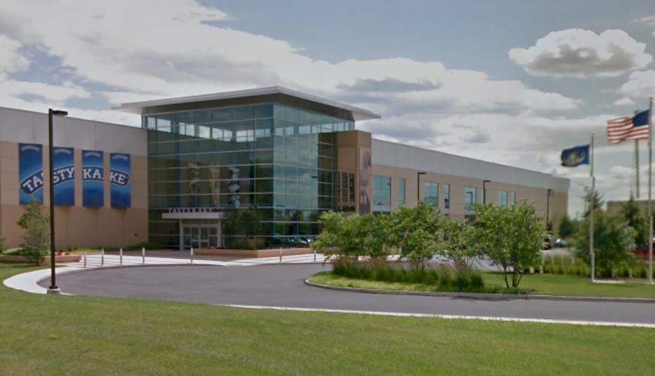 Tasty Baking Company headquarters in Southwest Philadelphia (image via Google Maps)
