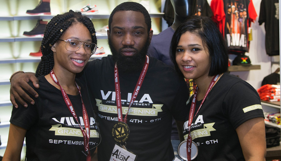 Team members at a Villa store in Philly.