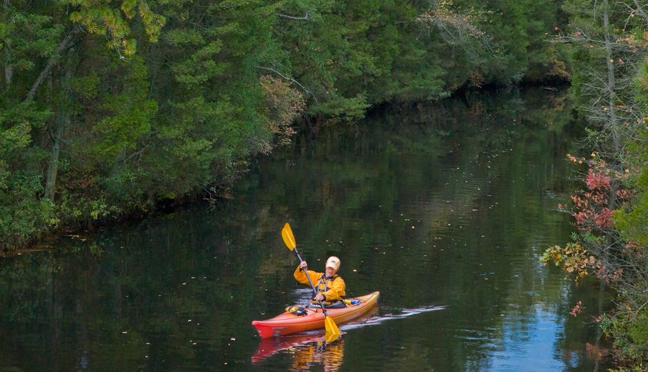 Kayaking along the Oswego River in Wharton State Forest
