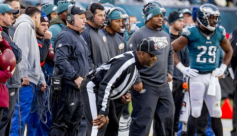 Chip Kelly, Ryan Day, Duce Staley and DeMarco Murray. (Jeff Fusco)