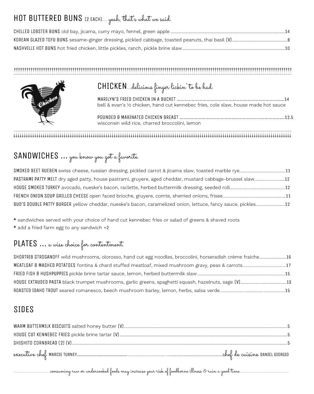 Bud-&-Marilyn's---Lunch-Menu-food