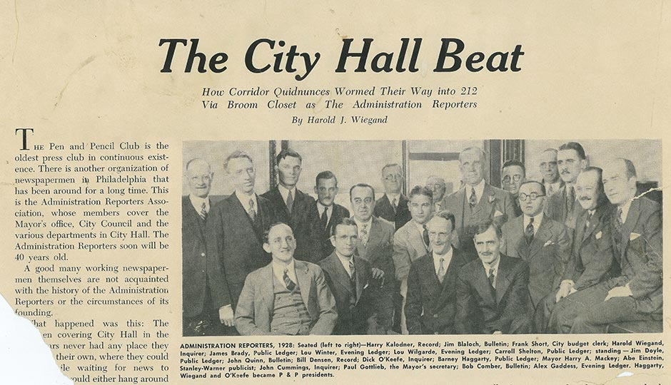 An old news clipping — provenance is unknown — about City Hall's once robust and now-depleted press corps. | Clipping courtesy of Mike Dunn.