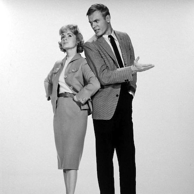 """Debbie Reynolds and Tab Hunter in """"The Pleasure of His Company."""""""