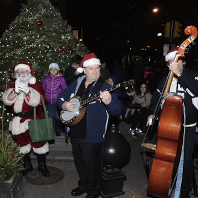 Guests are invited to Deck Passyunk Avenue this week with Santa.   Photo courtesy of East Passyunk Business Improvement District