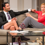 """Pej Vahdat and Monette Magrath in """"Disgraced."""""""