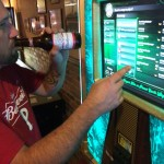A Budweiser swilling (and Budweiser/Phillies t-shirt wearing!) jukebox violator.