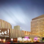 The most recent artist's rendering of the Live! Casino at Packer Ave. and Darien Streets in South Philadelphia. (Photo courtesy of Stadium Casino LLC)