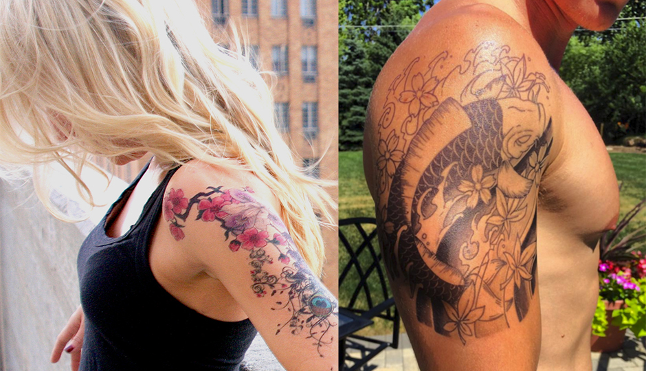 These are not real tattoos. (Photos courtesy of Momentary Ink.)