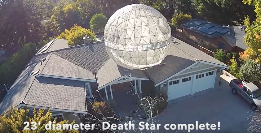 Yup, that's a Death Star | Screengrab via Youtube