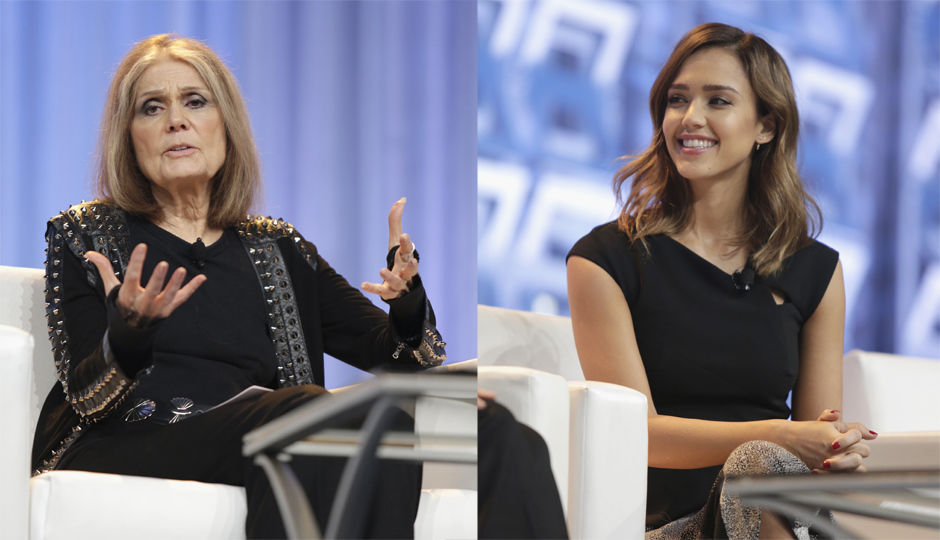 Gloria Steinem and Jessica Alba at the PA Conference for Women. (Photo by Marla Aufmuth/Getty Images. Courtesy of the PA Conference for Women.)