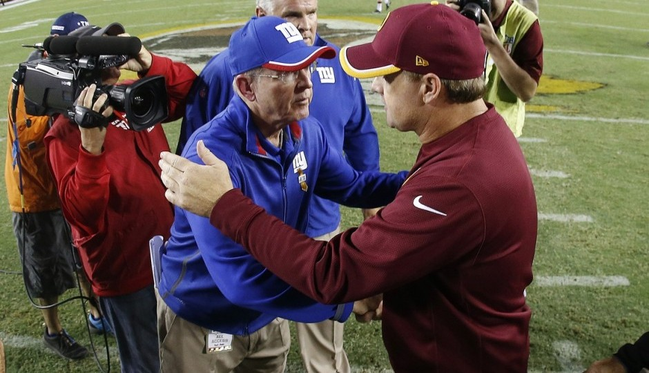 Tom Coughlin and Jay Gruden. (USA Today Sports)