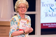 """Jane Ridley in """"Becoming Dr. Ruth"""" at Walnut Street Theatre's Independence Studio on 3.   Photo by Mark Garvin."""