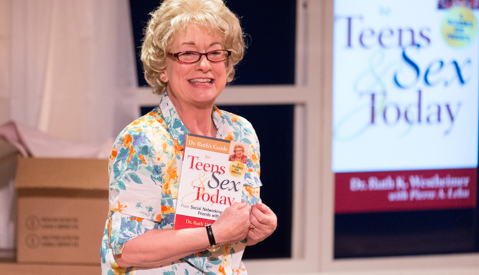"""Jane Ridley in """"Becoming Dr. Ruth"""" at Walnut Street Theatre's Independence Studio on 3. 