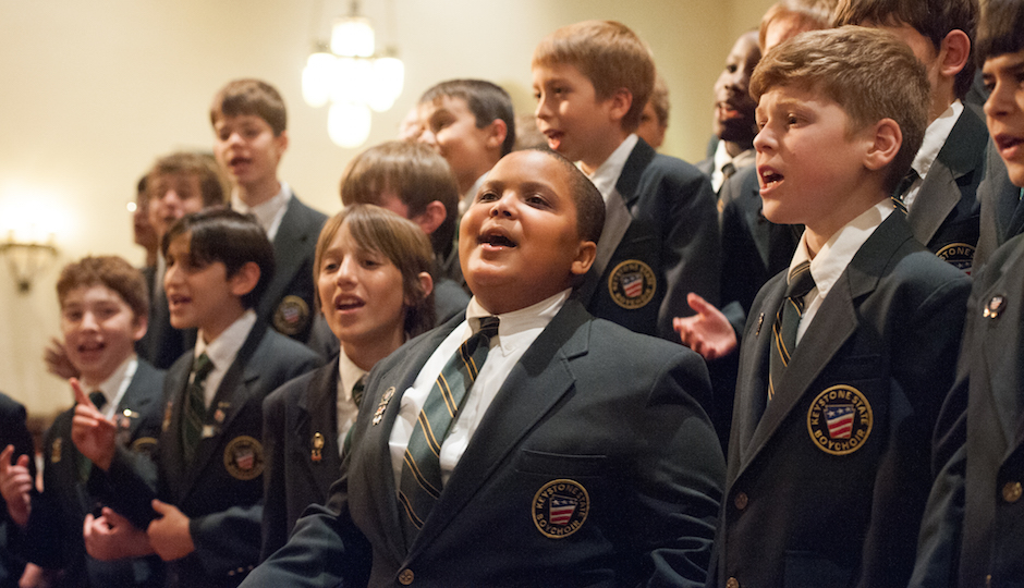 Bobby Hill (front center) with Keystone State Boychoir