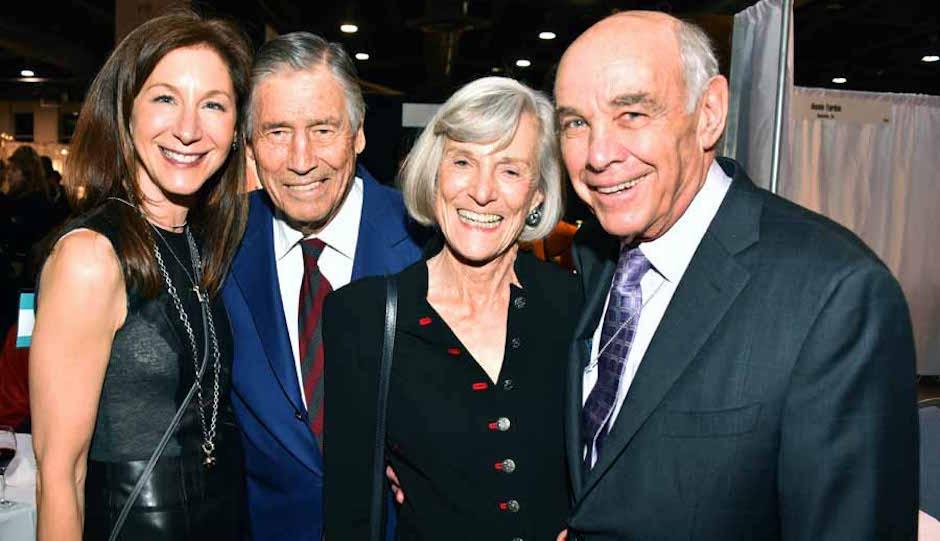Marta Adelson, Robert and Penny Fox with John Binswanger