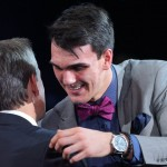 Dario Saric, selected 12th overall in the 2014 NBA draft, insists that he will join the Sixers next summer | Brad Penner-USA TODAY Sports