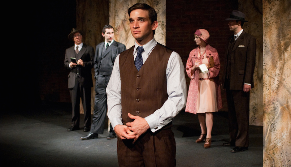 "Evan Jonigkeit in Mauckingbird Theatre Company's 2009 production ""Never the Sinner"" 