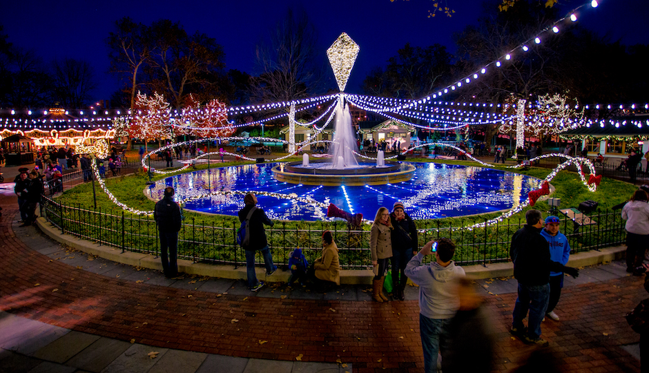 Electrical Spectacle in Franklin Square Park.