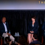 "From left: Inga Saffron, Jay McCalla, Beth McConnell and Calvin Gladney on ""The Gentrification Wars: Can Philly Have Urbanism and Equality"" at ThinkFest."