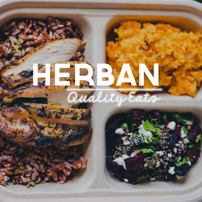 Herban opens today with free lunch.