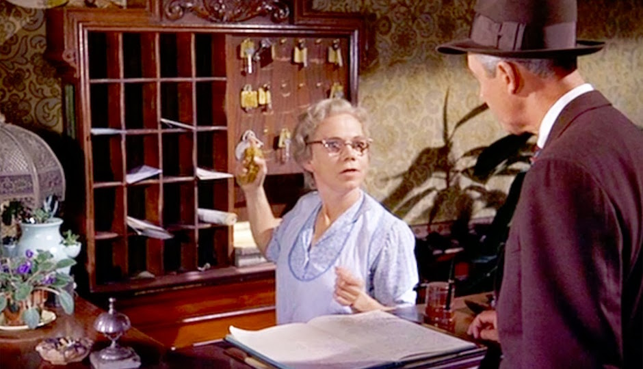 """Ellen Corby in Hitchcock's """"Vertigo."""""""