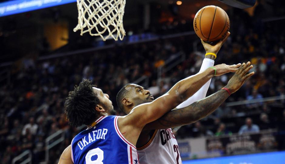 Jahlil Okafor's improved defensive rebounding is big for the 76ers | Ken Blaze-USA TODAY Sports