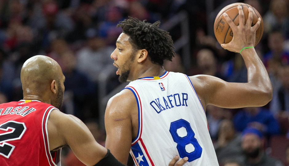 Integrating Jahlil Okafor's back to the basket offensive game is one of Brett Brown's key focal points | Bill Streicher-USA TODAY Sports