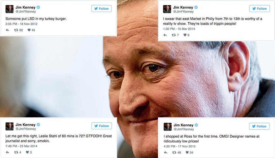 Photo by Jeff Fusco. Tweets by Jim Kenney.