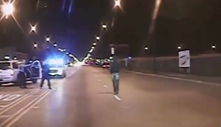 Laquan McDonald, seconds before he was shot.