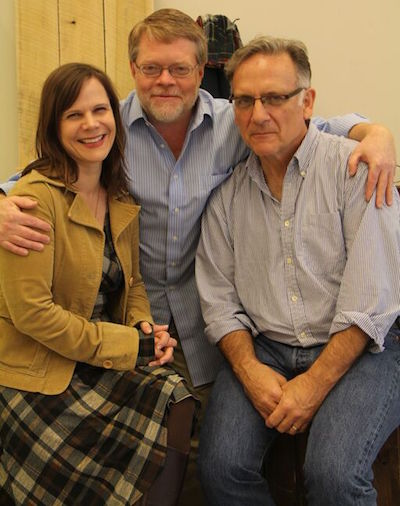 Eason with Arden Producing Artistic Director Terry Nolen and Director Whit MacLaughlin