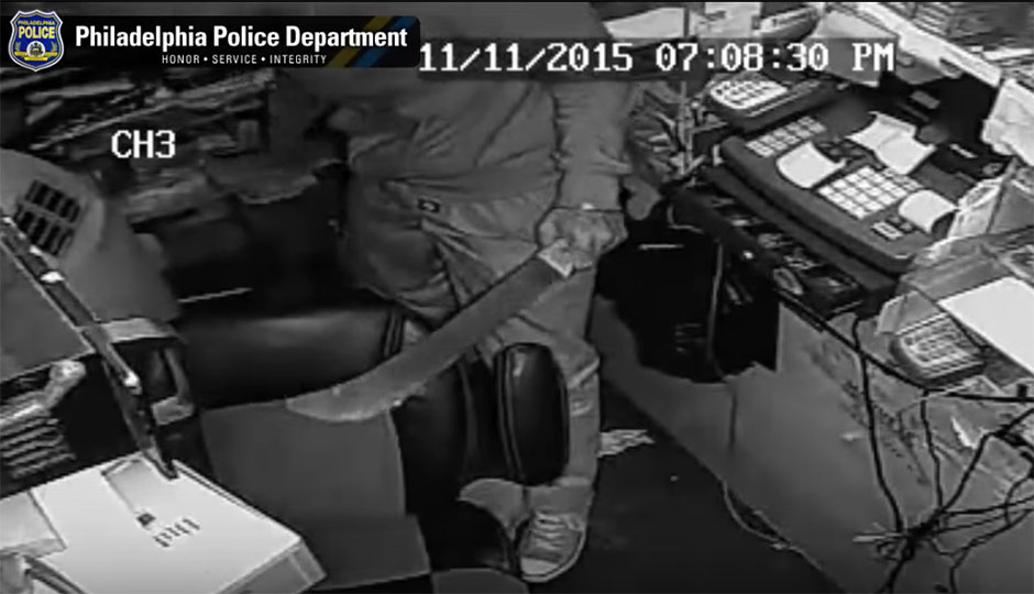 Robber with machete