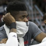 Nerlens Noel came off the bench to score 16 points and collect 9 rebounds in the 76ers 113-88 loss to the Charlotte Hornets | Bill Streicher-USA TODAY Sports