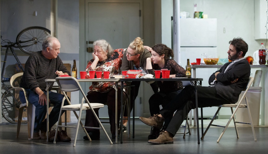 """Reed Birney, Jayne Houdyshell, Cassie Beck, Sarah Steele and Arian Moayed in """"The Humans"""" 