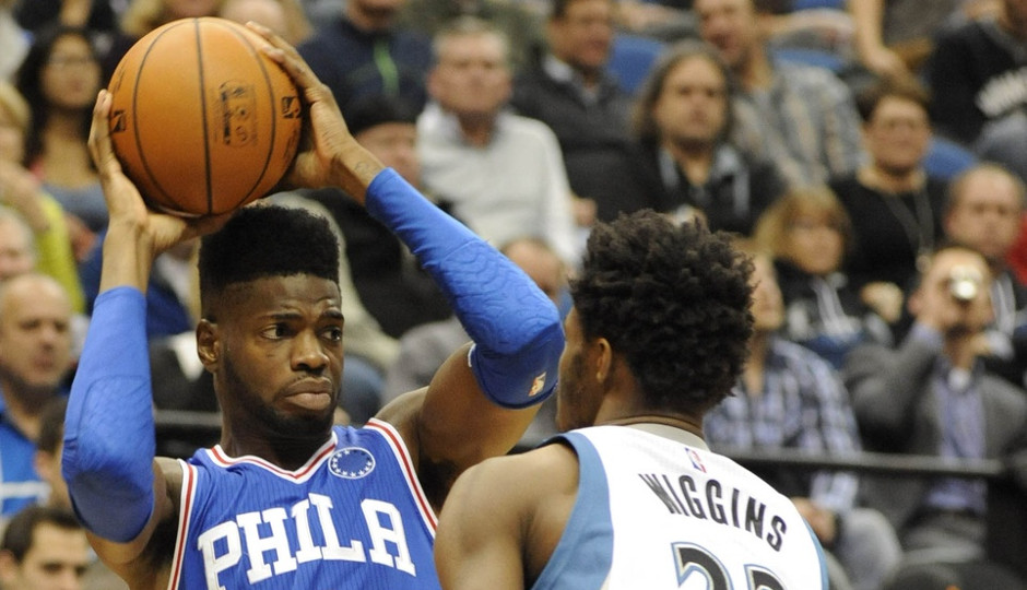 Andrew Wiggins scored 32 points in Minnesota's 100-95 victory over the Philadelphia 76ers | Marilyn Indahl-USA TODAY Sports