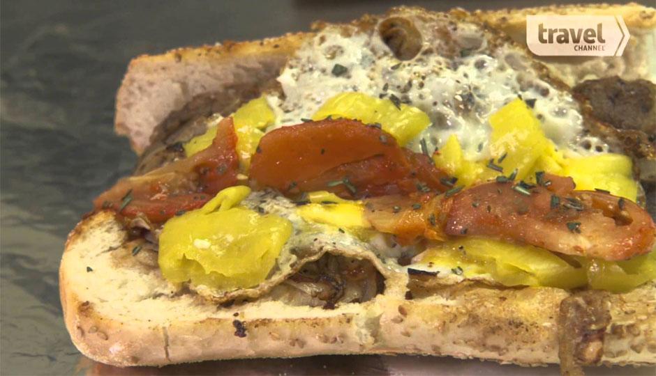 Peter McAndrews' Scrapple Cheesesteak is on the menu now.