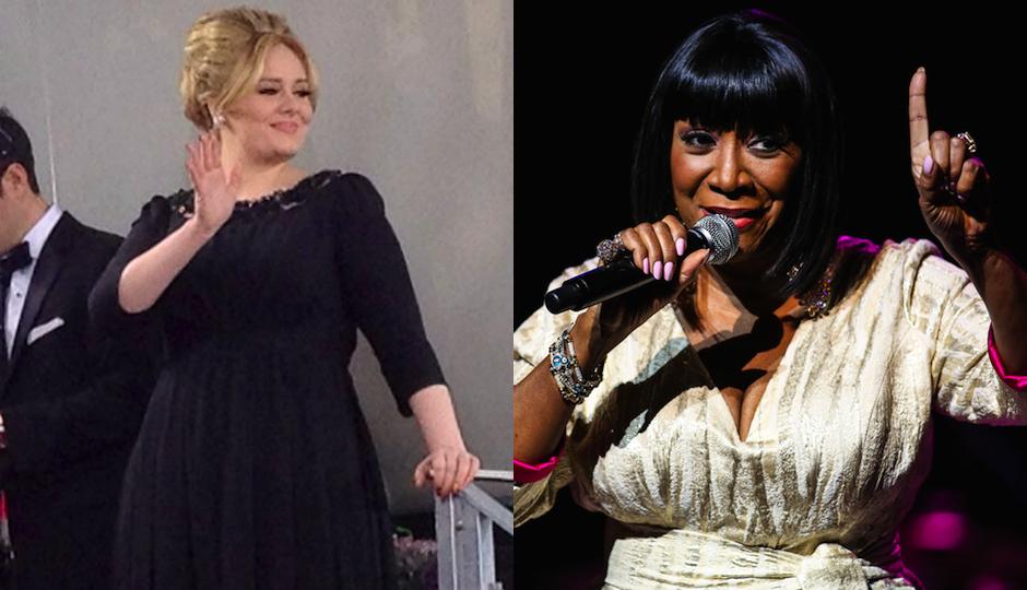 Adele via Wikimedia Commons / Patti LaBelle via Shutterstock