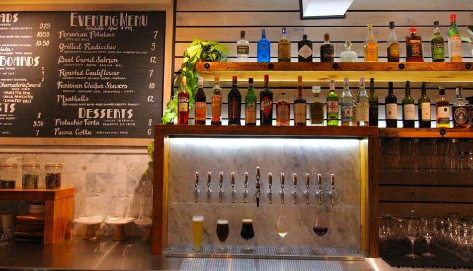 New bar at Plenty Cafe on East Passyunk